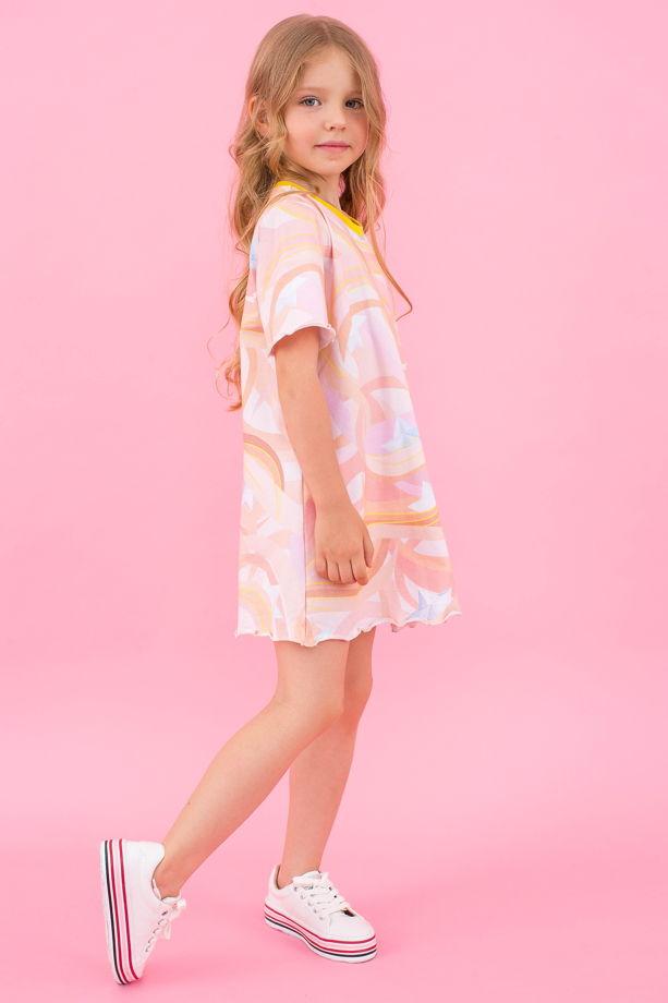 Платье-футболка трикотаж для девочки