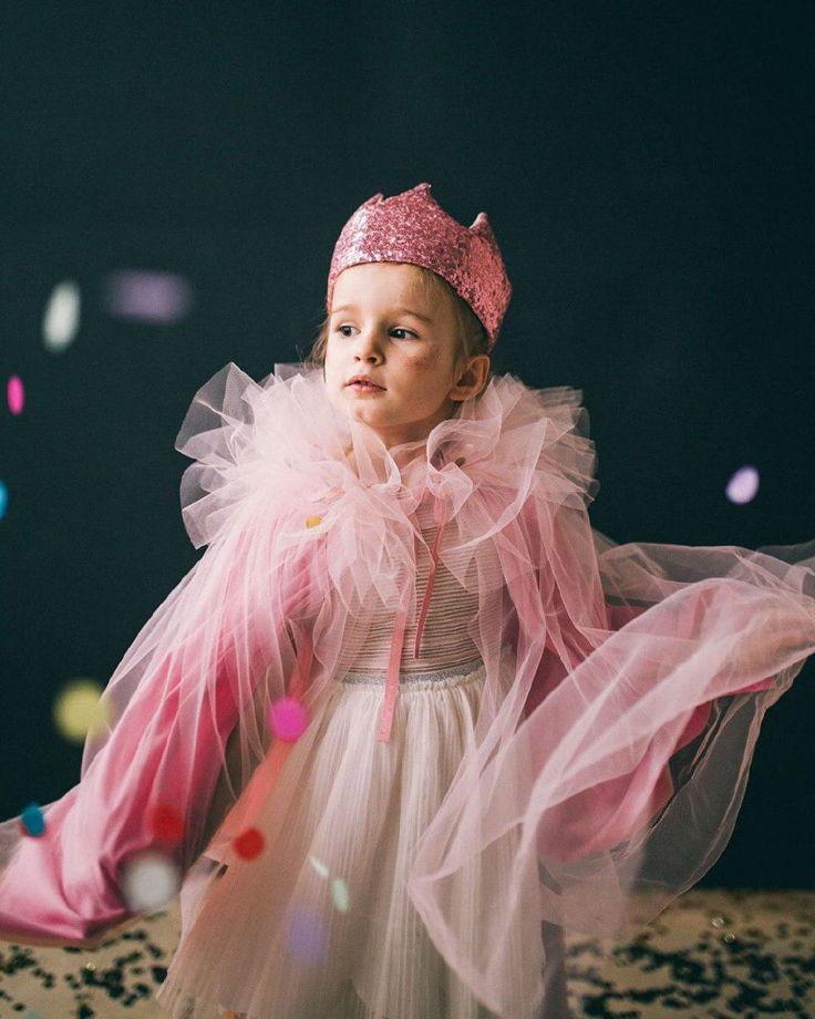 Мантия принцессы для девочек 2-9 лет