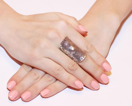 Кольцо длинное «Солнце Нежное» из серебра