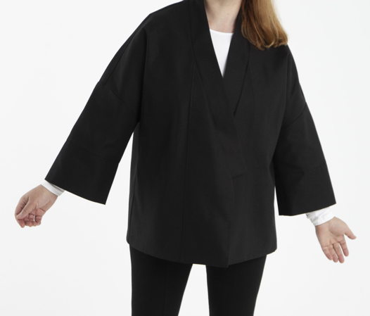 Кимоно черное со сменным поясом