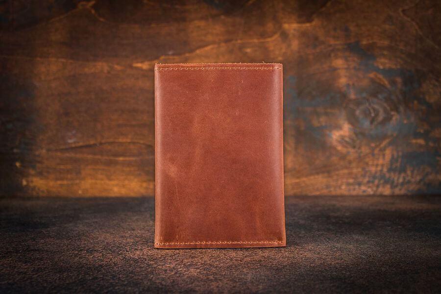 Обложка для автодокументов и паспорта -CROSS- натуральная кожа цвет Коньяк