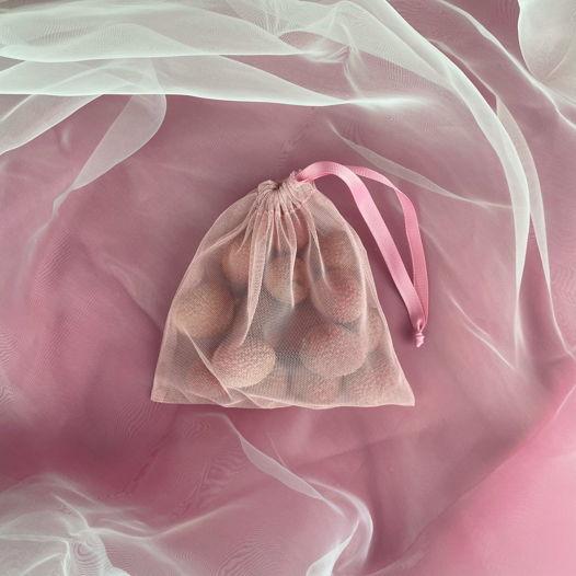 """Маленький розовый мешочек """"Канделябр"""" для продуктов и хранения"""