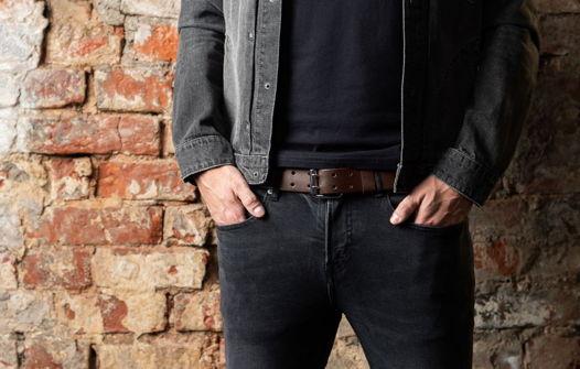 Мужской ремень для джинс, модель Georgia