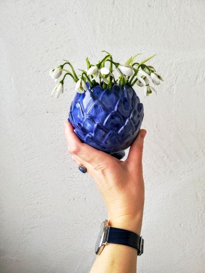 Ваза синяя. Керамика.