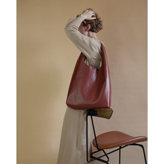 Кожаная сумка Hobo Chestnut