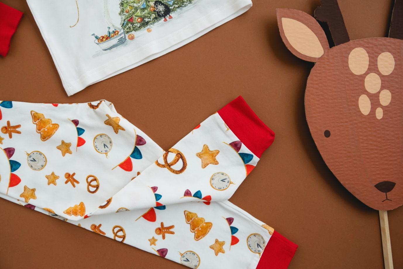 """Детская пижама с авторским принтом """"Скоро новый год"""""""