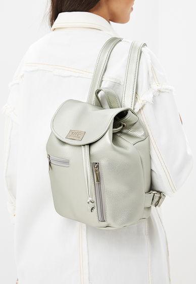 Мини-рюкзак из экокожи металлик Mini rock