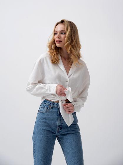 Блузка oversize с английским воротником