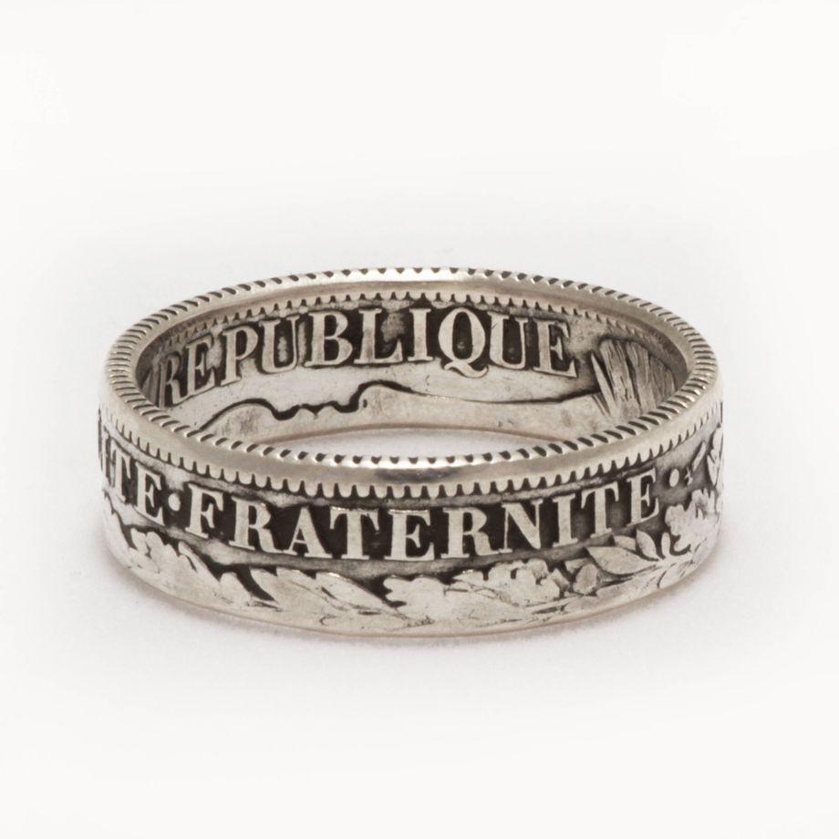 Кольцо из монеты - Франция 1 франк