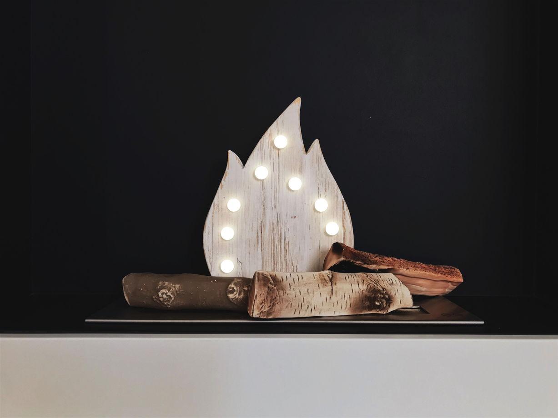 КОСТЕР  — Авторский светильник, ночник из дерева ручной работы