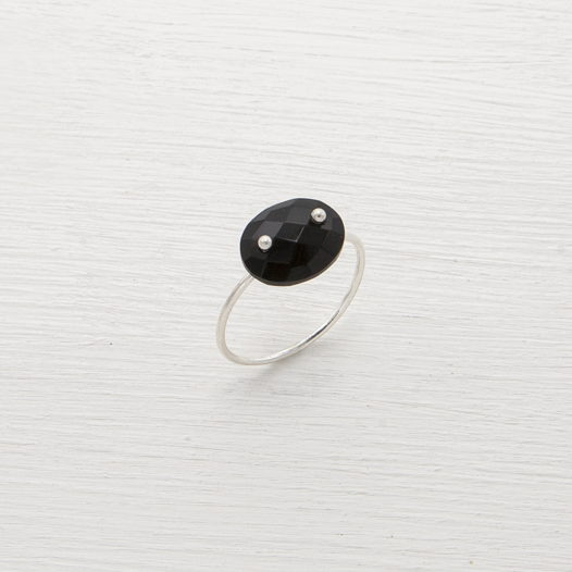 Кольцо Lollipop с черным ониксом