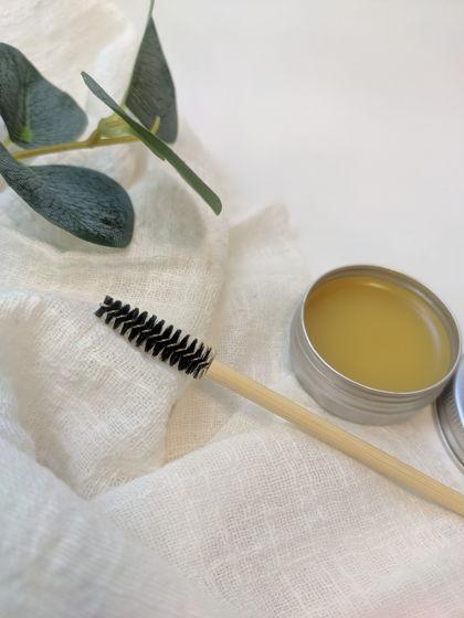 Воск для бровей (ручная работа) и щеточка для бровей