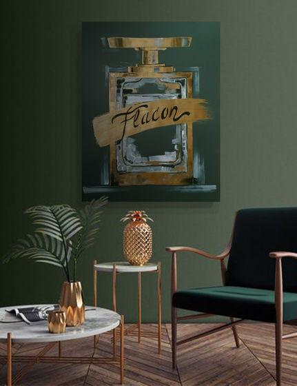 Постер ручной работы, акрил, бумага FLACON 1