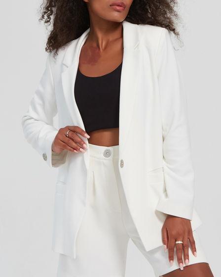 Пиджак женский // цвет: молочный