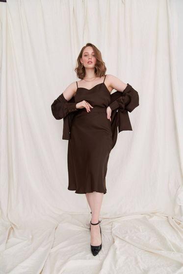 Шелковая юбка миди Rosie