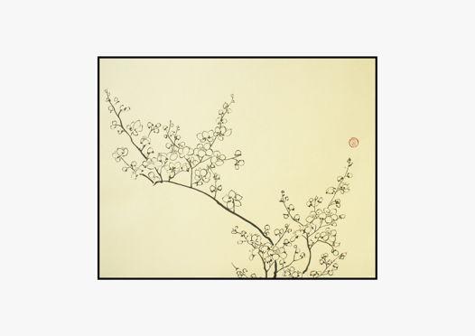 """""""Цветущая дикая слива мэй"""", картина в традиционном китайском стиле се-и   (40 * 33 см)"""