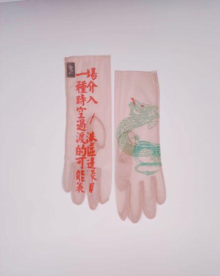 Перчатки с принтом NUDE DRAGON