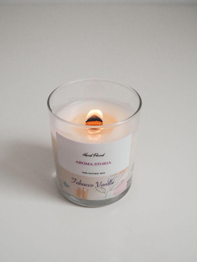 Ароматическая свеча из кокосового воска 250 мл  (аромат на выбор)
