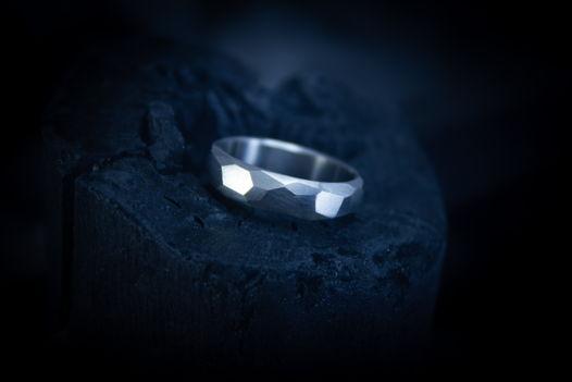 "Титановое кольцо ""Грани"""