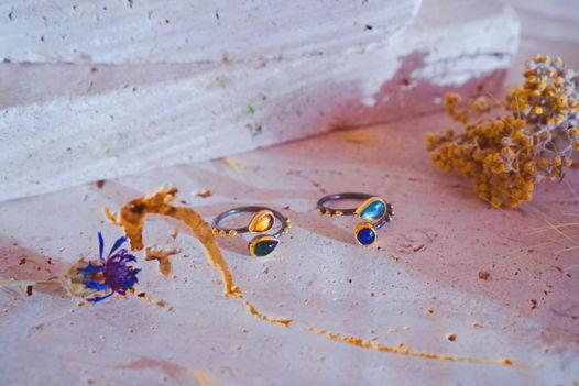 Серебряные кольца с турмалином