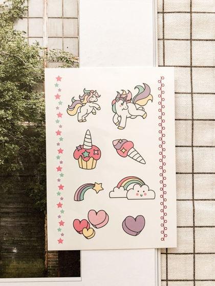 """Временные переводные татуировки MimiToo """"Единорог"""" для детей и взрослых"""