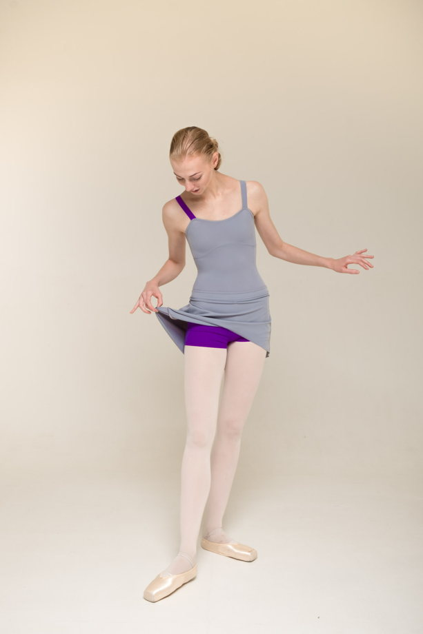 Юбка + Шорты Тянутся | basic для балета в сером, черном и телесном цвете
