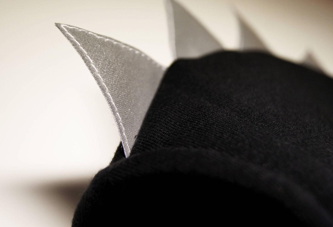 """Шапка-шлем """"Дракон"""" со светоотражающим гребнем"""