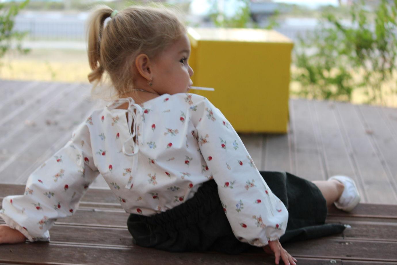 Хлопковая блуза в цветочек