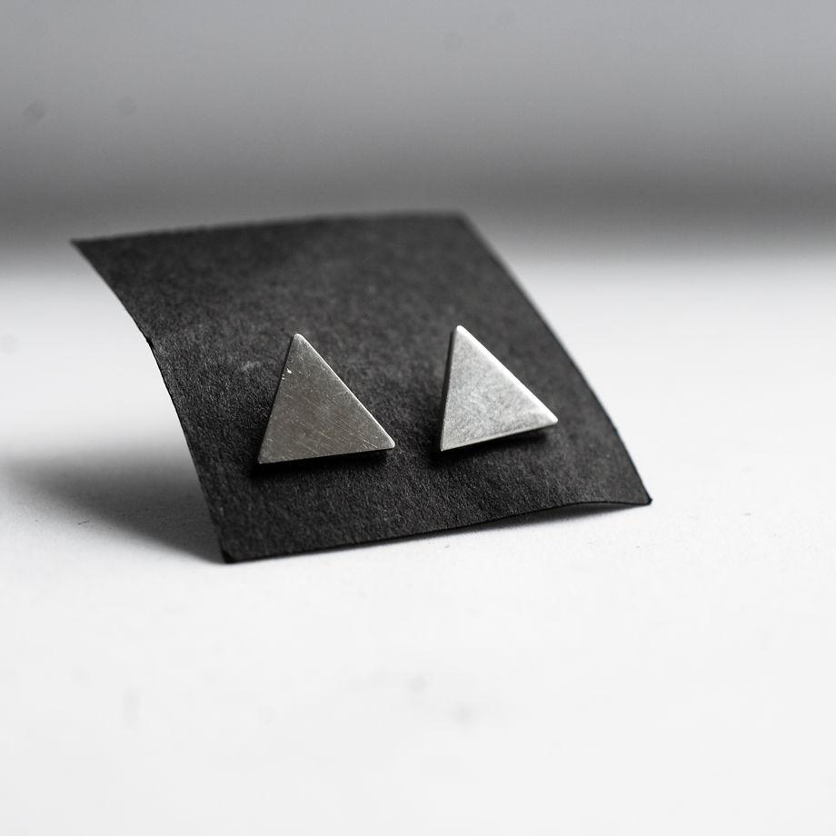Серьги Треугольники из серебра