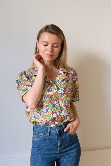 Рубашка с цветочным принтом «Fleurs»