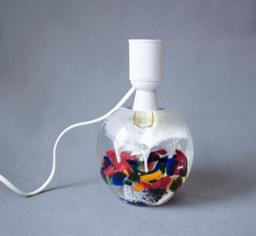 Лампа из арт-стекла, Швеция, 1970е