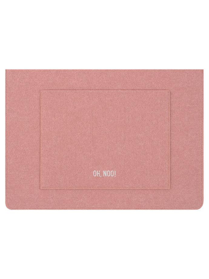 Чехол из фетра для MacBook и ноутбуков, дымчато-розовый, горизонтальный
