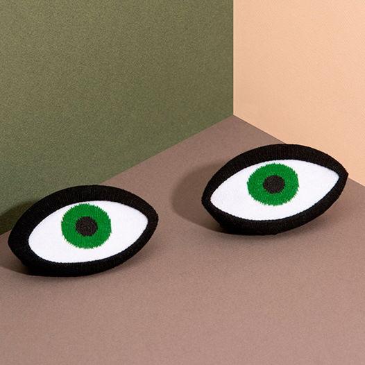 Носки в форме глаз DOIY Eye Green Socks