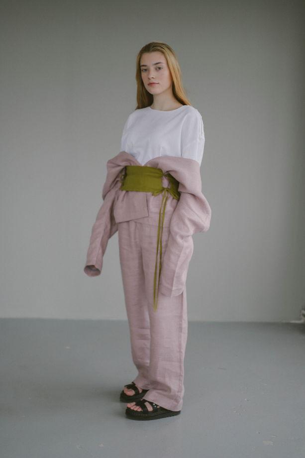 Жакет - кимоно из костюмного льна без подклада