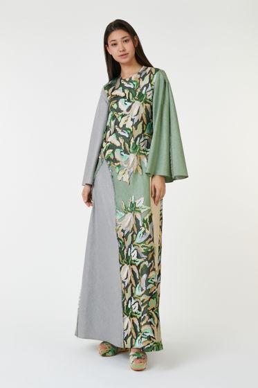 """Платье из коллекции """"Floreus"""" выполнено из итальянского льна (30%) с вискозой (70%)"""