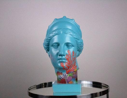 Гипсовая скульптура Венеры Капуа, 20х29х40 см