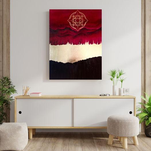 "Абстрактная картина-мандала ""Триумф Света"", 70х50см"