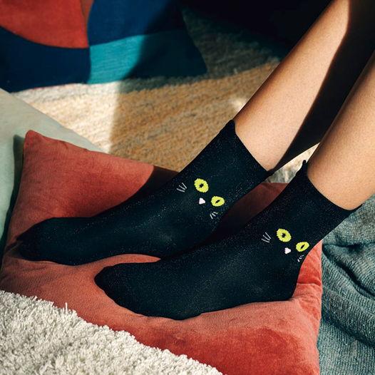 Носки в форме кошки DOIY Cat Socks - Black