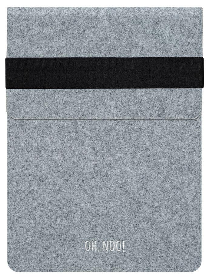Чехол из фетра для iPad и планшетов, светло-серый, вертикальный с крышкой