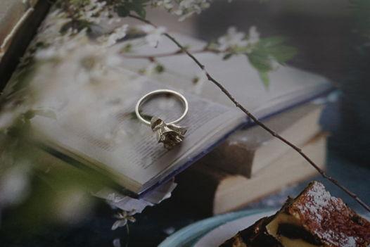 Серебряное авторское кольцо ручной работы Rose. Эксклюзив Blossom