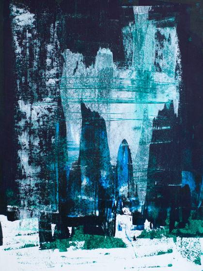 Nebula | Космическая туманность | Акрил на бумаге 29х40 см . Картина, рисунок