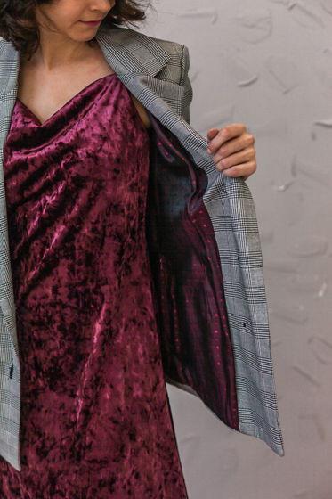 Платье-комбинация из бархата