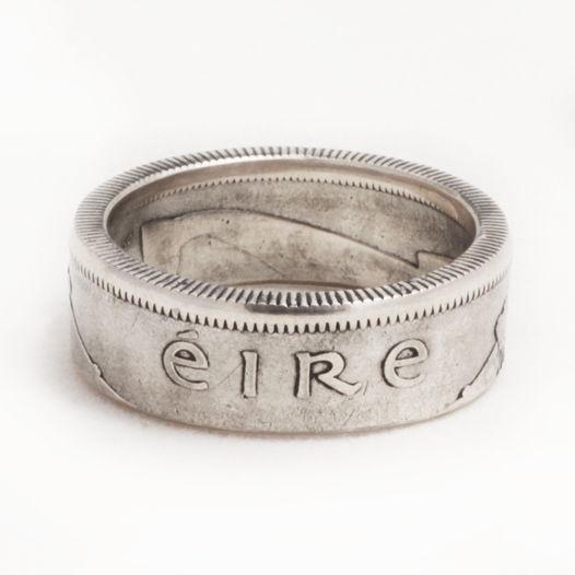 Кольцо из монеты - Ирландия 1 шиллинг (новый тип)