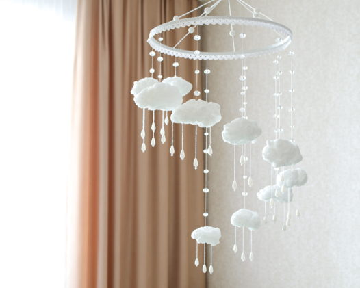 Интерьерный мобиль с облаками, Каскад