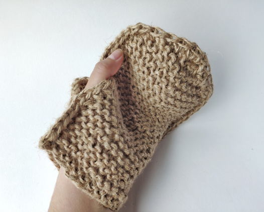 Мочалка-рукавичка из джута