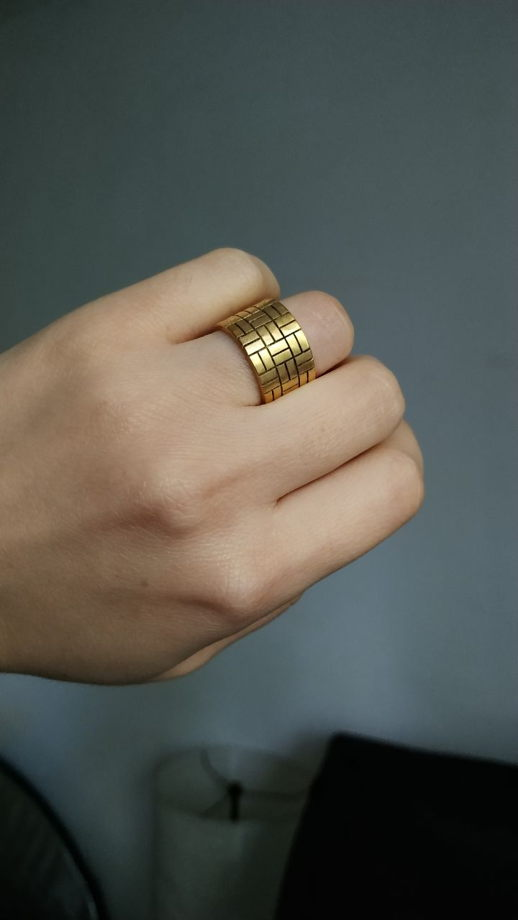 Позолоченное кольцо брусчатка (yellow brick road)