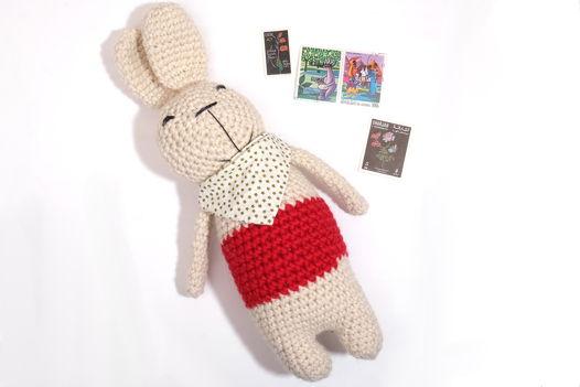 Игрушка вязаная заяц Чак
