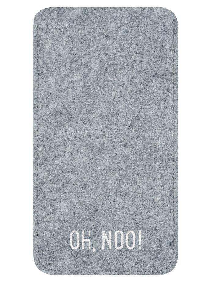 Чехол из фетра для iPhone и телефонов, светло-серый