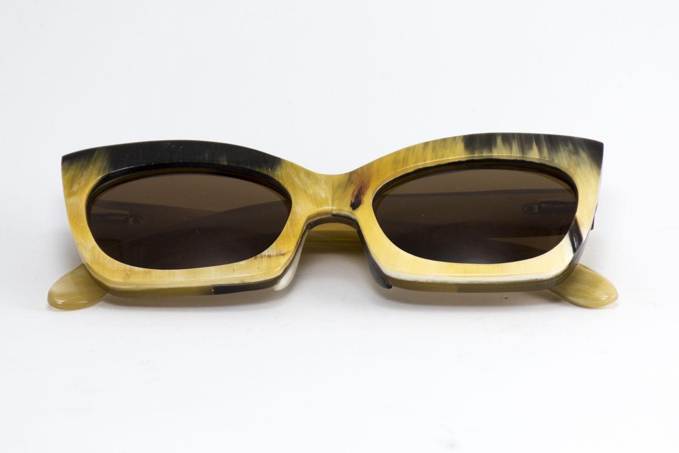 Роговые очки солнцезащитные ручной работы