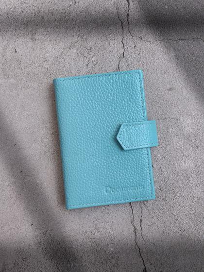 Обложка для автодокументов и паспорта Голубой
